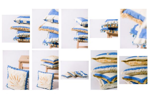 Blue Pillows Stock Collection by Anna Wisjo Stock