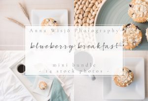 Pink Blueberry Breakfast Stock Collection by Anna Wisjo Stock